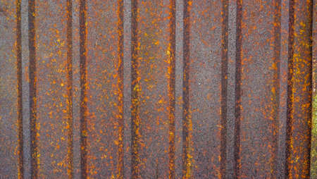 Pattern and texture of metal sheet. Rusty metal sheet texture
