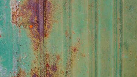 Old zinc wall surface background. corrugated iron siding vintage texture background.