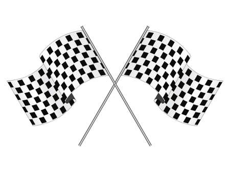 checked flag: Racing flag