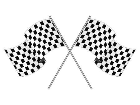 racing background: Racing flag