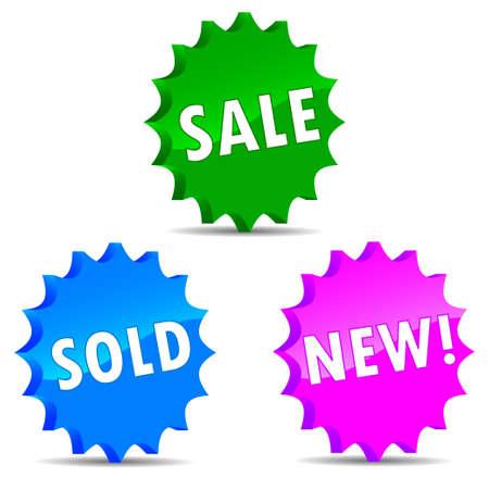 Set sale labels