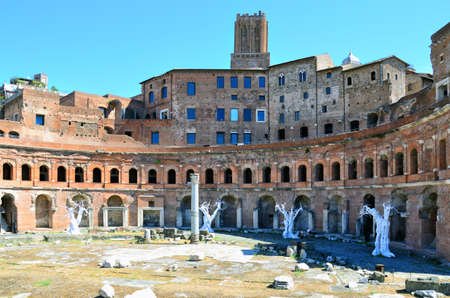 The ruins of Trajans Market (Mercati di Traiano) in Rome. Italy