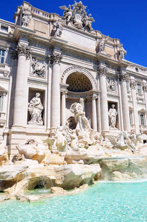 Baroque Trevi Fountain (Fontana di Trevi) in Rome. Italy