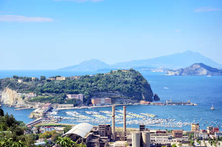 View of Nisida,island in the gulf of Pozzuoli,Napoli, Italy.