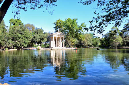 Villa Borghese Pinciana, Pincian Hill, Rome Italy Stock Photo