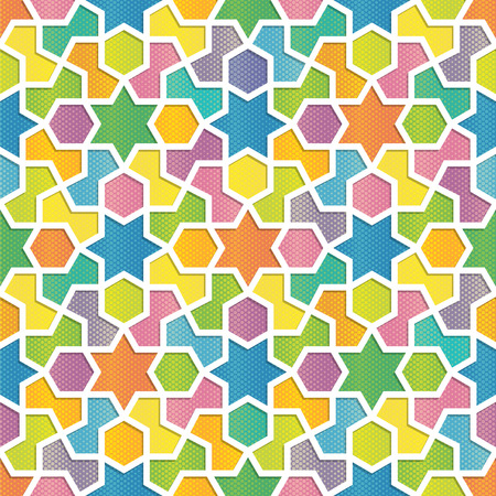 arabic background: Colorful Geometric Pattern in Arabic Style