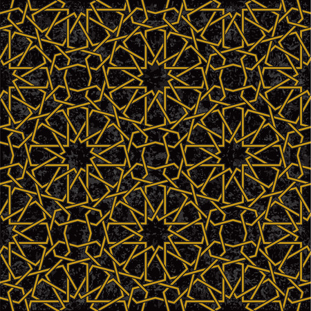 star pattern: Gold line star pattern background in arabic style, Vector Illustration Illustration