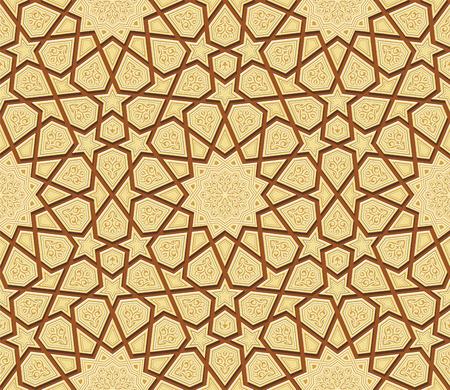 Arabesque Ornament van de Ster Achtergrond, Vector Illustratie Stock Illustratie