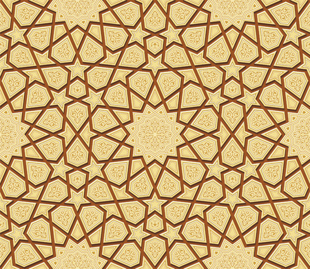 islamic: Arabesque Star Ornament Background, Vector Illustration
