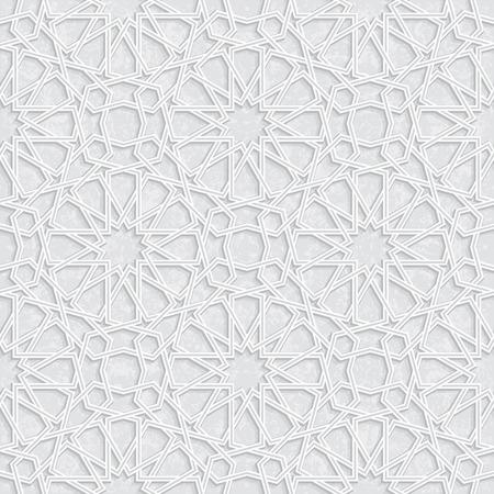 arabesco: Modelo de estrella con el fondo de Grunge gris claro, ilustración vectorial Vectores
