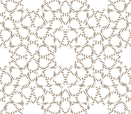 Arabesque star pattern grey lines with white background