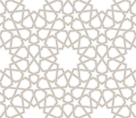 Arabesque ster patroon grijze lijnen met witte achtergrond