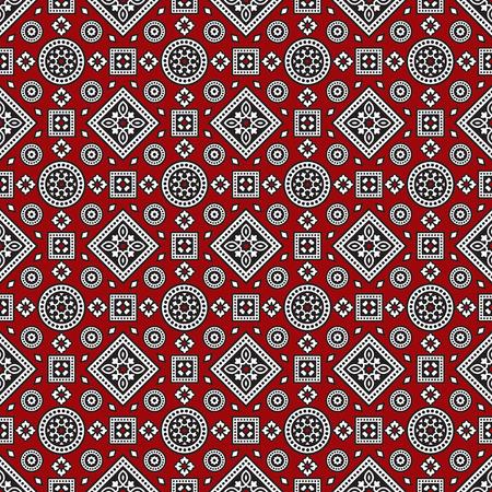 gujarat: Sindhi Ajrak Pattern, Vector Illustration