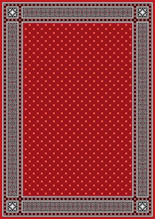 frame border: Frame  Border with Red Background in sindhi ajrak style, Vector illustration