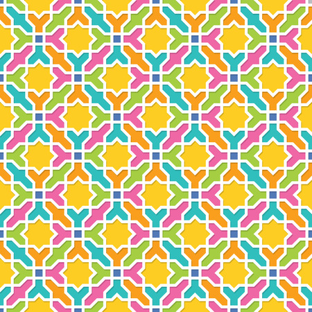 arabic background: Geometric pattern in Arabian style, Seamless vector background, Colourful Wallpaper