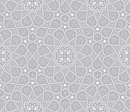 Geometric ornament grey vector background