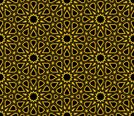islamic: Islamic Star Pattern seamless background, Wallpaper design Illustration