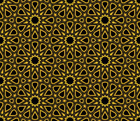 Islamic Star Pattern seamless background, Wallpaper design Illustration