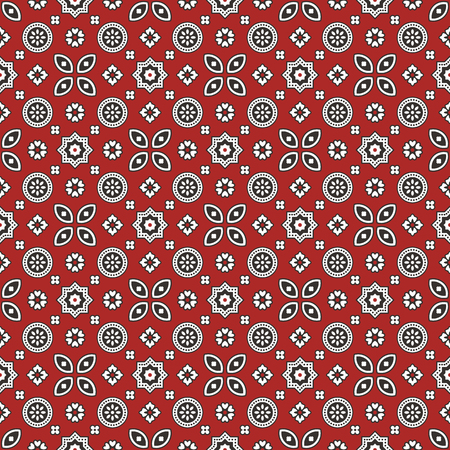 colours: Sindhi Red Ajrak Pattern