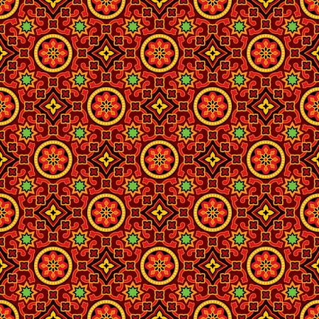 신드어 ajrak 벡터 패턴 배경 스톡 콘텐츠 - 47746622