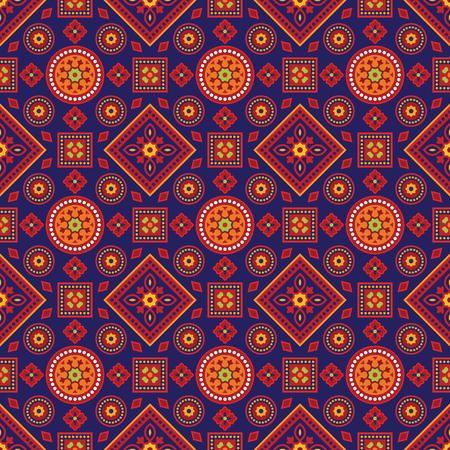 Colorful Ajrak Pattern