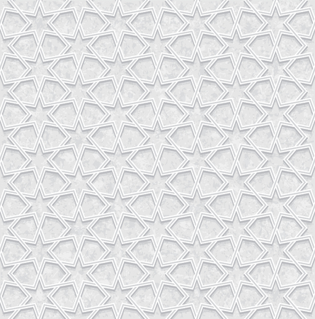 Geometric Pattern with Grunge Background, Light Gray and white Wallpaper, Vector Illustration