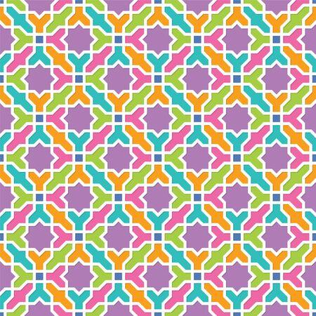 arabesque wallpaper: Arabesque pattern in Arabian style, Seamless vector background, Colourful Wallpaper Illustration