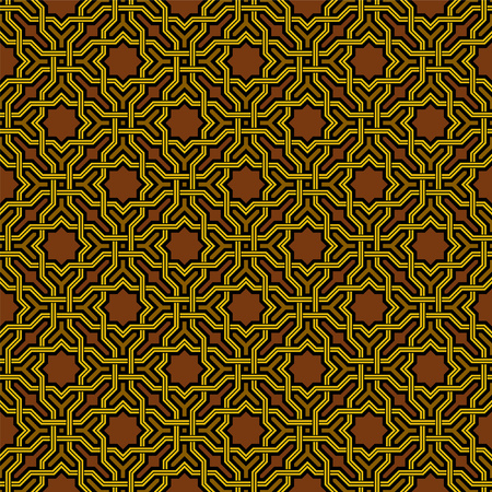 arabesco: Arabesque patrón en estilo árabe, vector de fondo sin fisuras, Oscuro Wallpaper