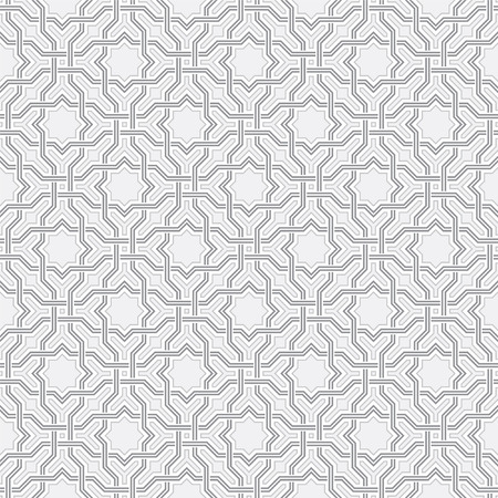 arabesque pattern: Arabesque pattern in Arabian style, Seamless vector background, Gray and white Wallpaper