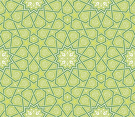 Islamic Star Ornament Green Background, Vector Illustration Illusztráció