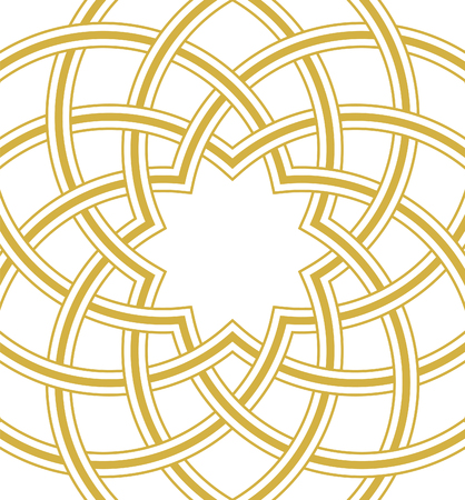 Islamic dome golden background, Round Square Design, vector illustration Illustration