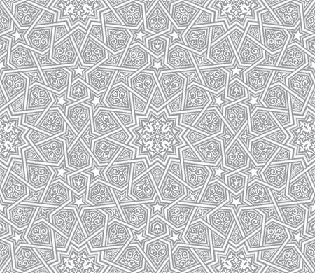 イスラム装飾グレーベクトル背景  イラスト・ベクター素材
