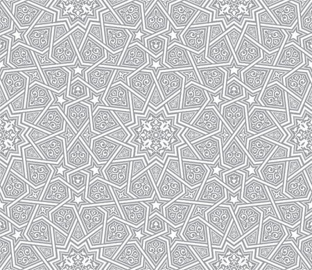 islamic ornament grey vector background Illustration