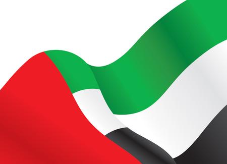 UAE waving flag background, Vector Illustration Illustration
