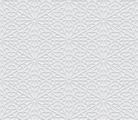 Grey light geometric pattern in arabic style, soft emboss background