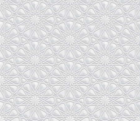 Geometric Pattern with embossing 3d effect Background, Interior wall decoration, White and grey texture