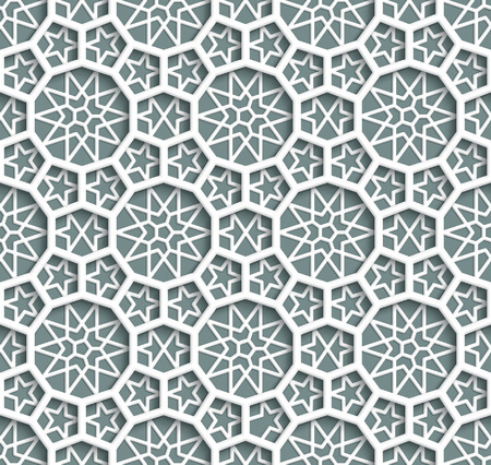 Light grey arabesque pattern, Soft emboss background