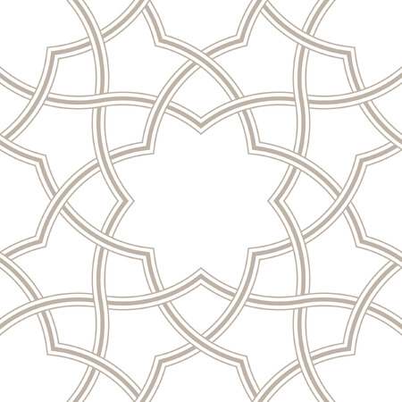 Geometric floral light grey background, Arabic pattern, vector illustration