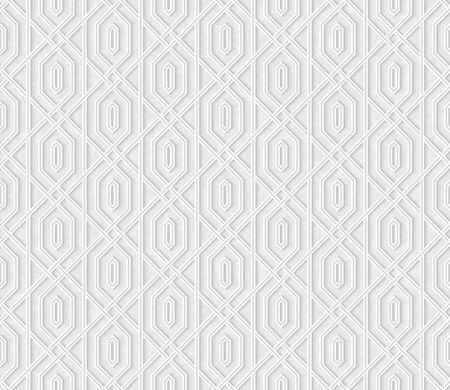 Arabesque Pattern in Light Gray Background, Vector illustration