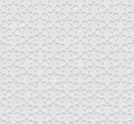 floral pattern with Grunge Light Grey Background, Vector Illustration