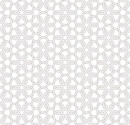 Seamless floral pattern with light gray background, Vector Illustration