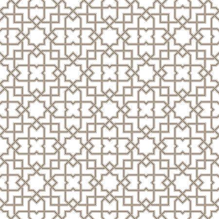 Geometric grey lines pattern with white background, Vector illustration Ilustração