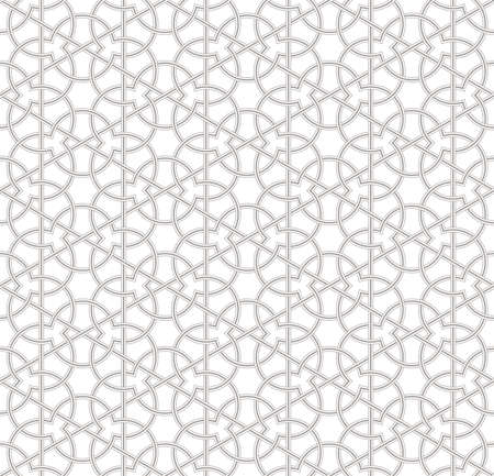 Seamless geometric pattern with light grey background, Vector Illustration