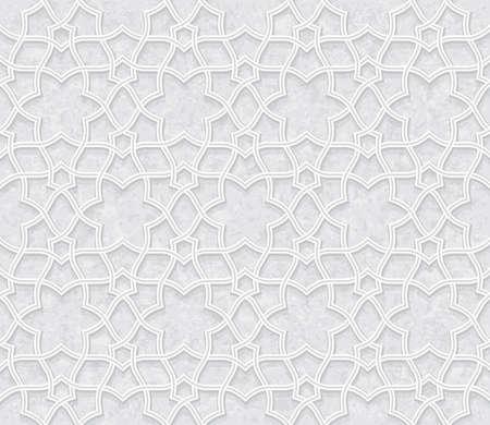 floral  Pattern with Grunge Light Grey Background, Vector Illustration Ilustração