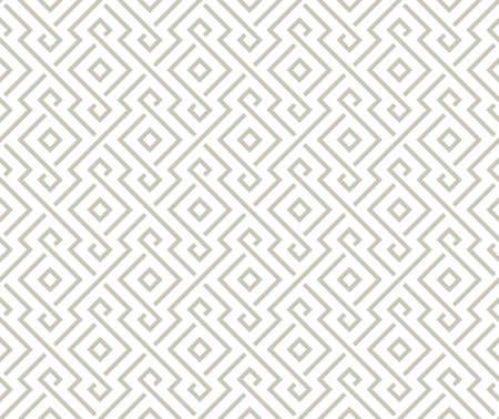 Geometric Arabic light gray pattern Ilustração