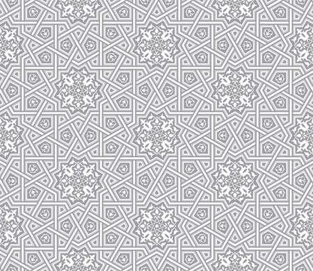 Islamic ornament grey background, Vector illustration Ilustração