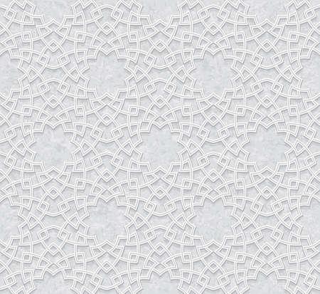 Geometric seamless light grey pattern, Traditional Arabic wallpaper, Vector illustration