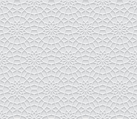 Grey light geometric pattern in Arabic style, soft emboss background