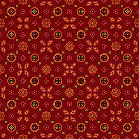 Traditional Ajrakh illustration pattern Ilustracje wektorowe