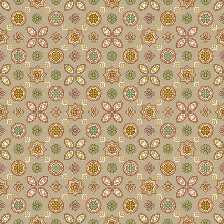 Traditional Ajrakh illustration pattern